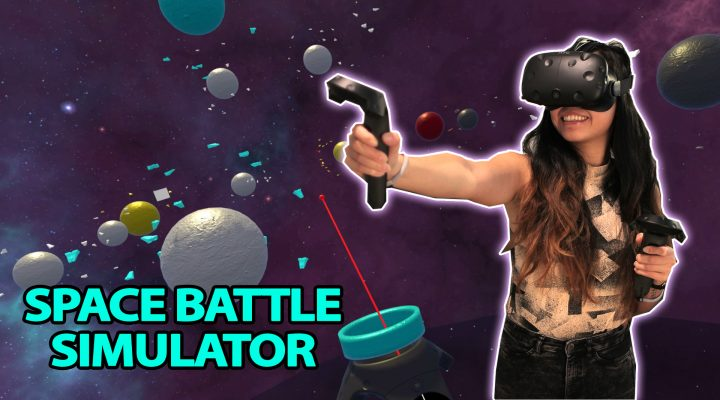 SPACE BATTLE STRATEGY VR GAME! | Lazerbait (HTC Vive Gameplay – Free VR games)