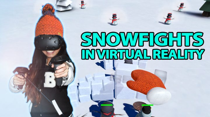 SNOWFIGHTS IN VIRTUAL REALITY | Snow Fortress VR Review (HTC Vive Gameplay)