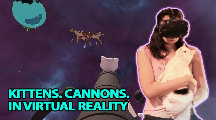 WEIRDEST PARTY VR GAME YET? | Kitten Cannon VR Review (HTC Vive Gameplay)