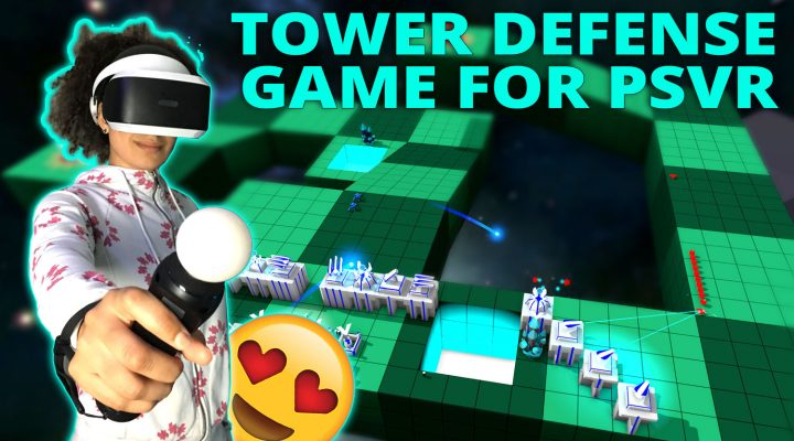 SPACE VR TOWER DEFENSE GAME | Korix (PSVR Gameplay)