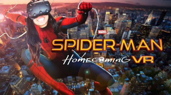 SHOOT SPIDERWEBS YOURSELF! | Spider-Man: Homecoming - VR Experience (HTC Vive Gameplay) Free VR Experience 2017