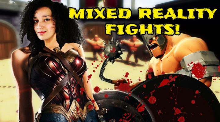 FEELING LIKE WONDER WOMAN (IN MIXED REALITY) | GORN - VR Gladiator Simulator (HTC Vive Gameplay)