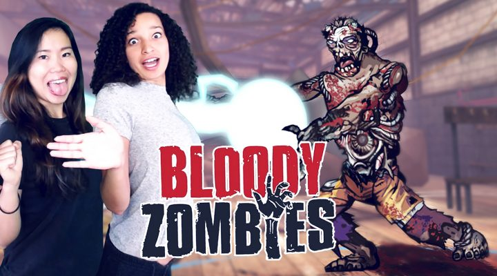 SURVIVING ZOMBIES TOGETHER! (LOCAL CO-OP) | Bloody Zombies VR (Oculus Rift CV1 Gameplay)