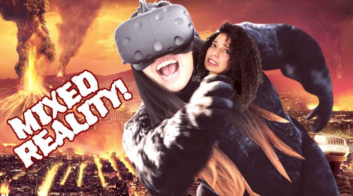 BECOME KING KONG IN VR COUCH CO-OP!! (MIXED REALITY) | Late For Work VR Review (HTC Vive Gameplay)