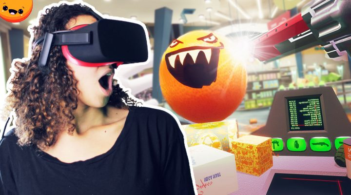 BECOME FRUIT NINJA CASHIER IN VIRTUAL REALITY?! | Shooty Fruity VR Demo (Oculus Touch Gameplay)