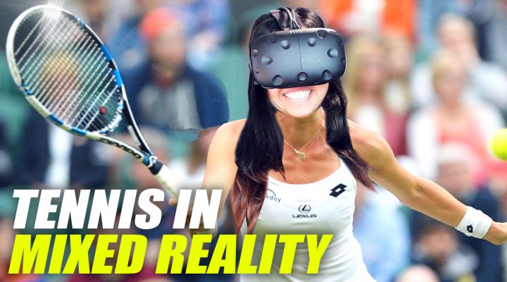 US OPEN 2017 TENNIS IN VIRTUAL REALITY | Virtual Sports VR (HTC Vive Gameplay - Mixed Reality)