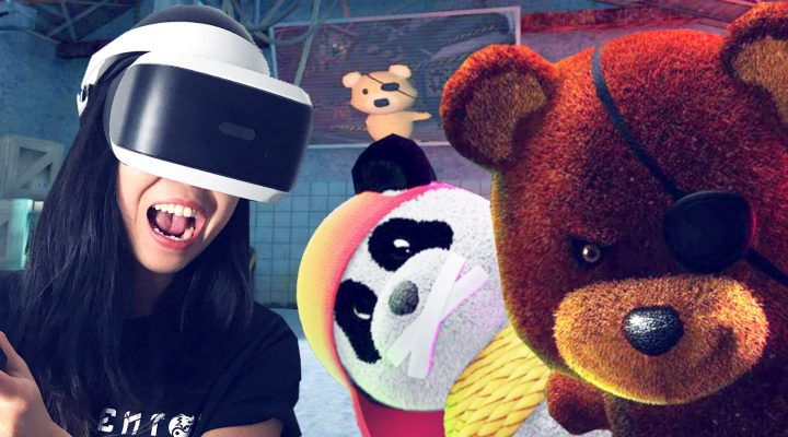 FIGHTING OFF CRAZY BEARS! | Sneaky Bears VR Review (PSVR Gameplay)