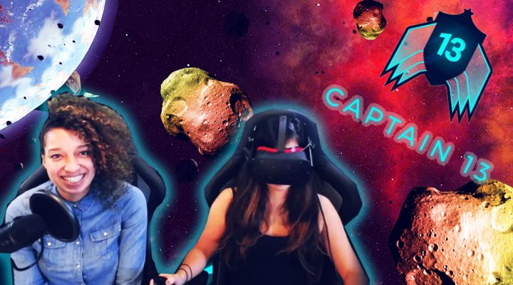 ASTEROIDS ARCADE GAME IN VIRTUAL REALITY! | Captain 13 – Beyond The Hero VR (Oculus Touch Gameplay)