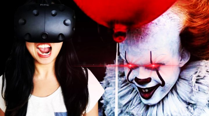 WHY DID I DO THIS? | IT VR Experience FLOAT (HTC Vive Gameplay – Girls VR Horror Reaction)