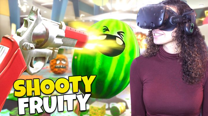 WEIRDEST CASHIER JOB SIMULATOR! | Shooty Fruity VR Gameplay (HTC Vive)