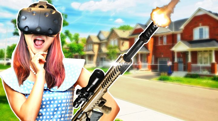 GUN SIMULATOR IN VIRTUAL REALITY? WAIT, WHAT?! | The American Dream VR Gameplay (HTC Vive)