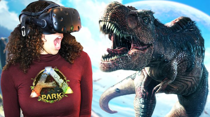 MEETING A GIGANOTOSAURUS IN VIRTUAL REALITY!! | ARK Park VR Gameplay - Part 1 (HTC Vive)