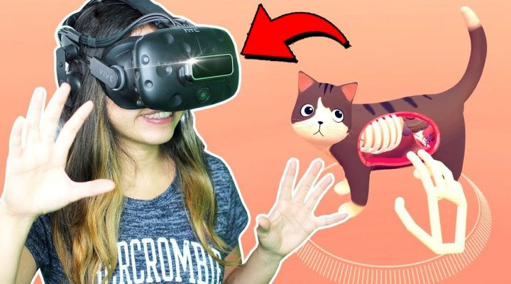 Leap Motion Major Update Released!! – Cat Explorer, Particles & Paint (HTC Vive)